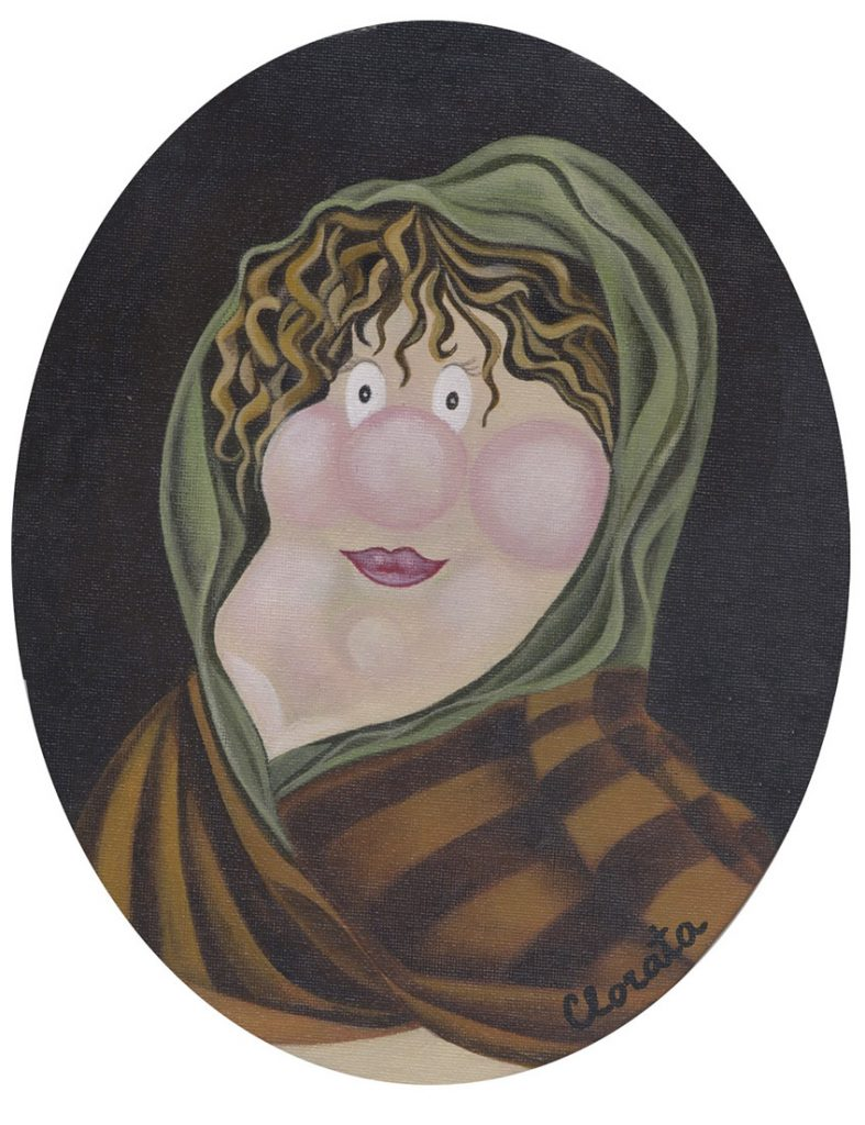 Madame Bobarín Medieval, vendido, disponible en lámina.